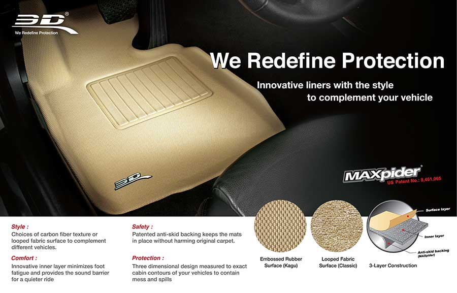 Car Mats Max Spider 3d Custom Molded Carbras Com